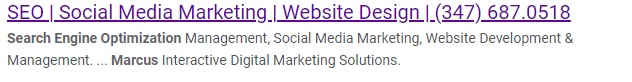 google results meta tags